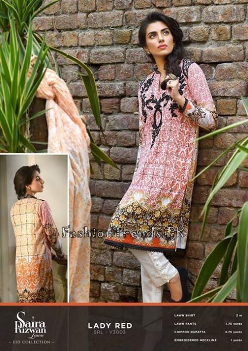 Saira Rizwan Eid Lawn Dresses 2015 (4)