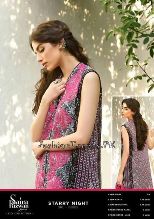 Saira Rizwan Eid Lawn Dresses 2015 (5)