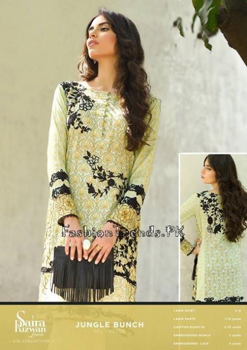 Saira Rizwan Eid Lawn Dresses 2015 (6)