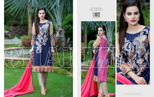 Charizma New Embroidered Lawn Dresses 2015 For Summer-3
