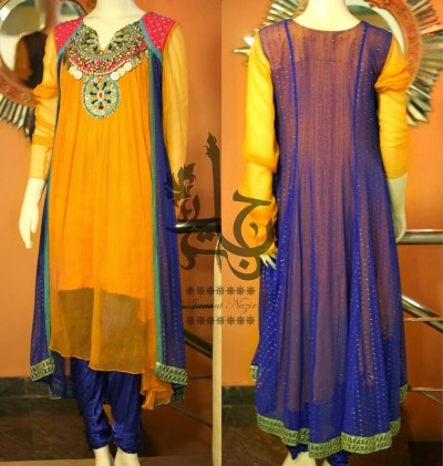 Latest-Open-Stylish-Gown-Collection-2015-by-Jannat-Nazir-1
