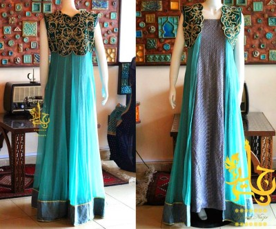 Latest-Open-Stylish-Gown-Collection-2015-by-Jannat-Nazir-4