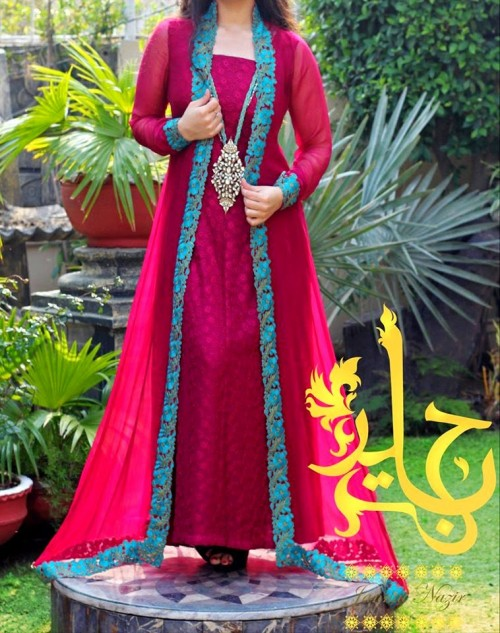 Jannat Nazir Latest Open Stylish Gown Collection 2015 Fashion 2017