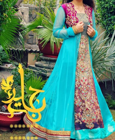Latest-Open-Stylish-Gown-Collection-2015-by-Jannat-Nazir-8