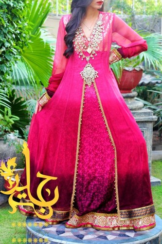 Latest-Open-Stylish-Gown-Collection-2015-by-Jannat-Nazir-9