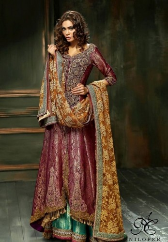 Meeras Bridal Wear Dresses 2015 By Nilofer Couture