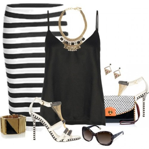 White-Black-Styles-Party-Wear-Polyvore-Combos-1