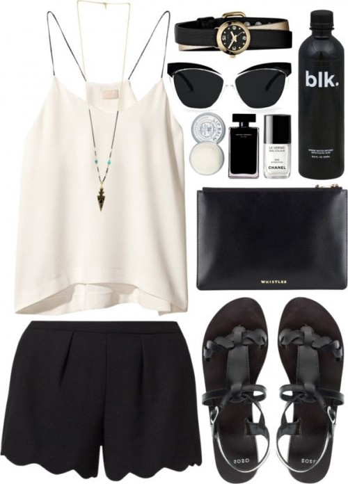 White-Black-Styles-Party-Wear-Polyvore-Combos-2