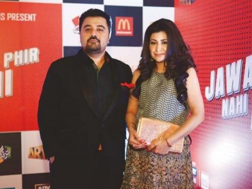 Ahmed Ali Butt and Ayesha at Jawani Phir Nahi Ani Promotion