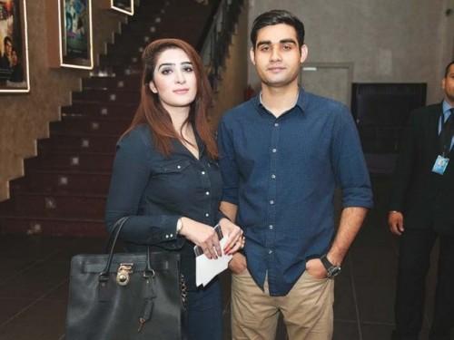 Ayesha Gillani and Adeel Asghar at Jawani Phir Nahi Ani Promotion