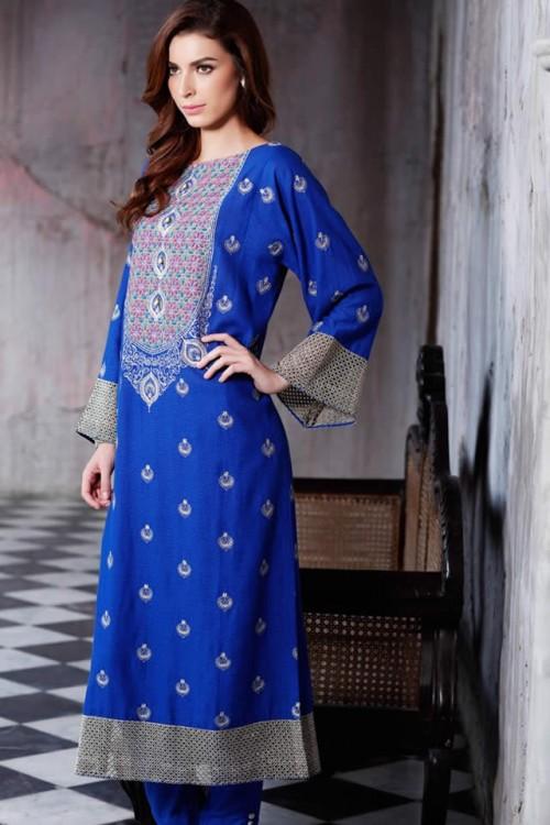 bareeze fall winter dresses collection 2015 fashion 2019