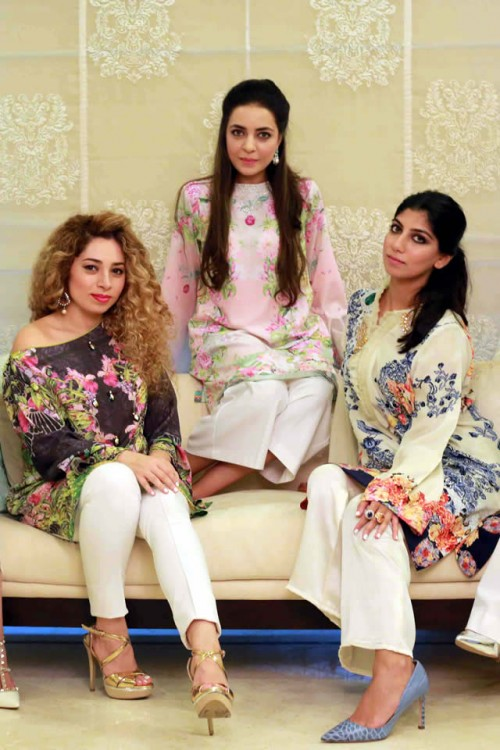 Farah Talib Aziz Silk Printed Kurtas Collection 5