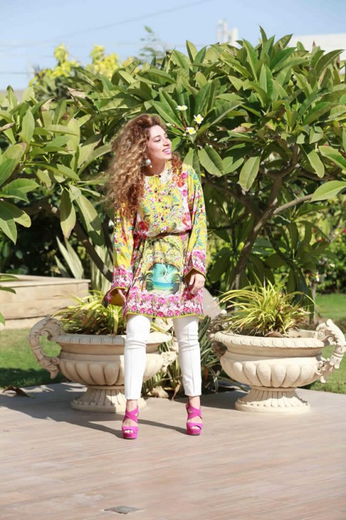 Farah Talib Aziz Silk Printed Kurtas Collection 4