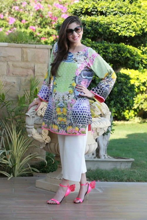 Farah Talib Aziz Silk Printed Kurtas Collection 2