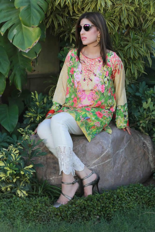 Farah Talib Aziz Silk Printed Kurtas Collection 1