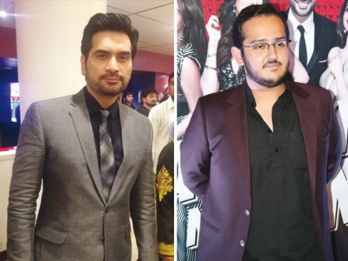 Hamayun Saeed and Aznan Sami Khan at Jawani Phir Nahi Ani Promotion