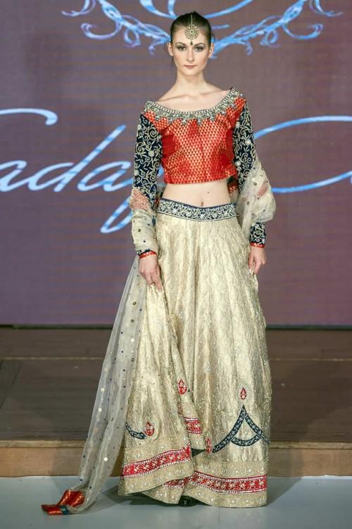 Sadaf Amir Bridal Dresses Pakistan Fashion Week London 2015 01
