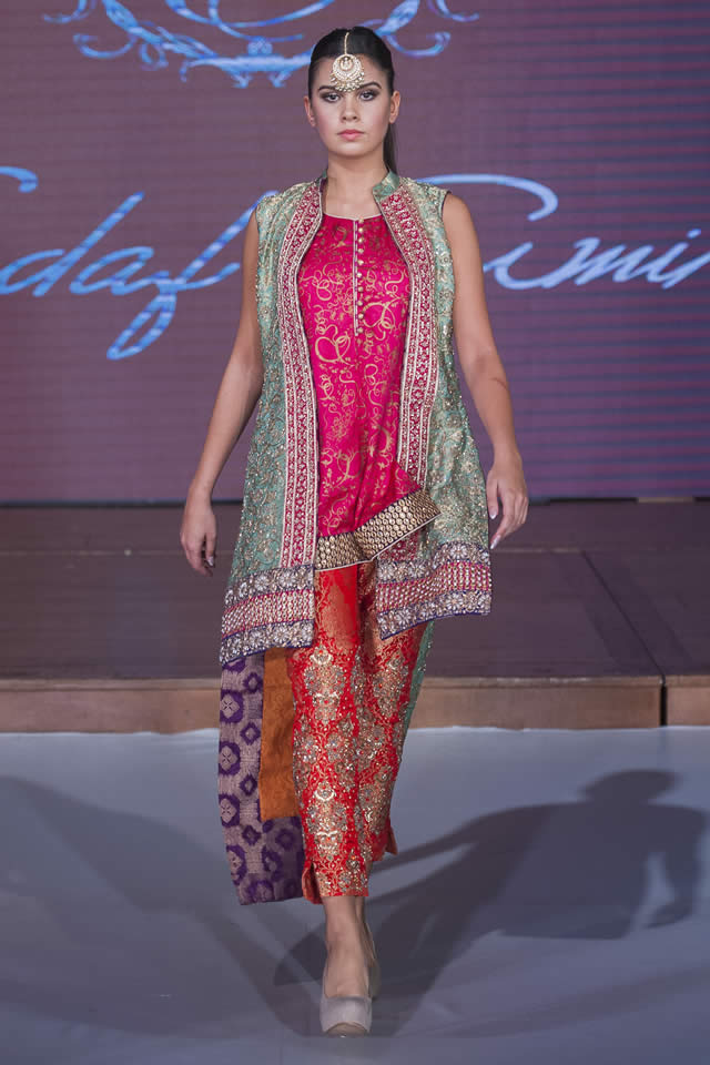Sadaf Amir Collection Pfw8 London 2015 Sadaf Amir Bridal Dresses Pakistan Fashion Week London