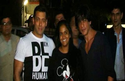 Shah Rukh Khan and Salman Khan and Arpita