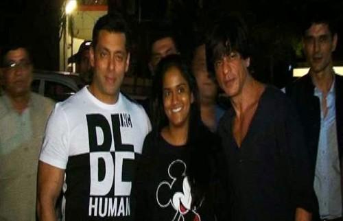 Shah Rukh Khan and Salman Khan and Arpita