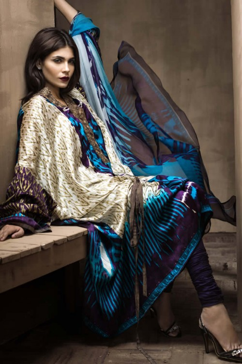 Sana Safinaz Silk Collection 2015 - Fashion 2017