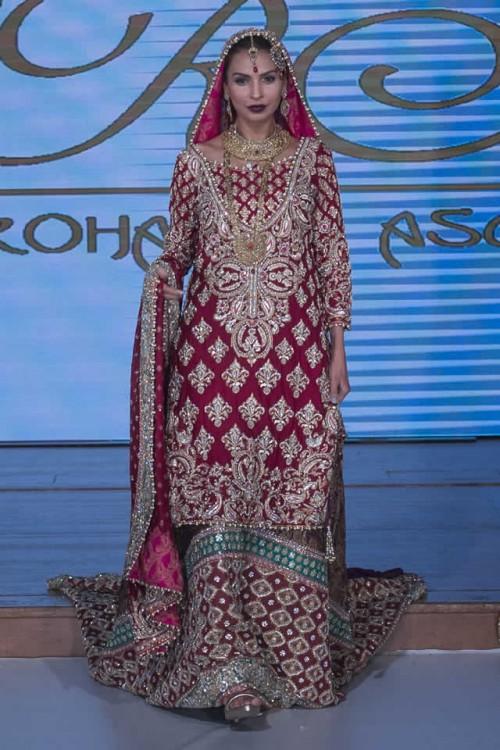 Sara Rohale Asghar Bridal Dresses Pakistan Fashion Week London 2015 09