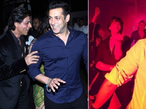 Shah Rukh Khan Salman Khan at Arpita Khan Wedding