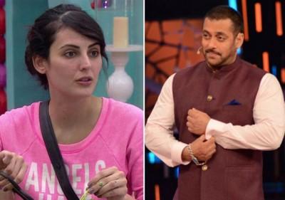 Mandana Karimi and Salman Khan BB9