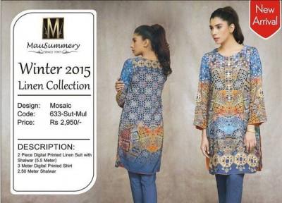 Mausummery Winter Dresses 2015 For Girls