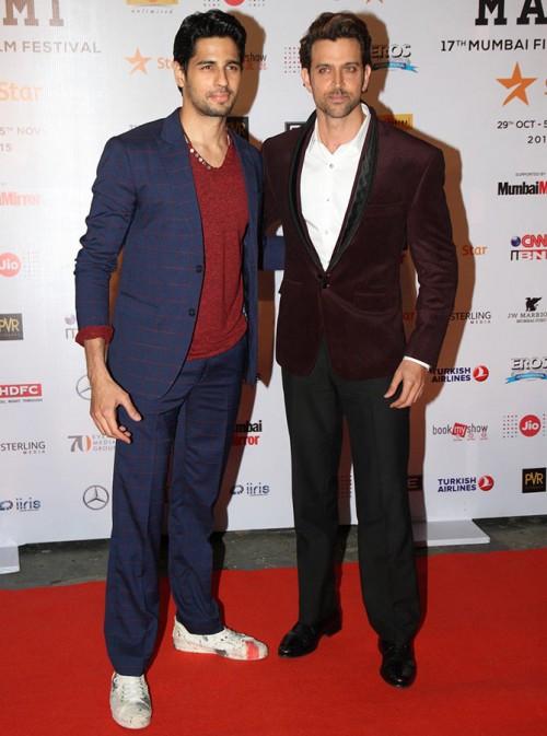 Sidharth Malhotra and Hrithik Roshan