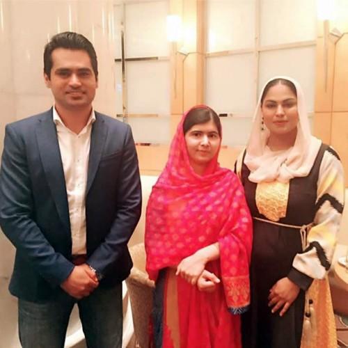 Veena Malik Asad Bashir Khan and Malala Yousafzai