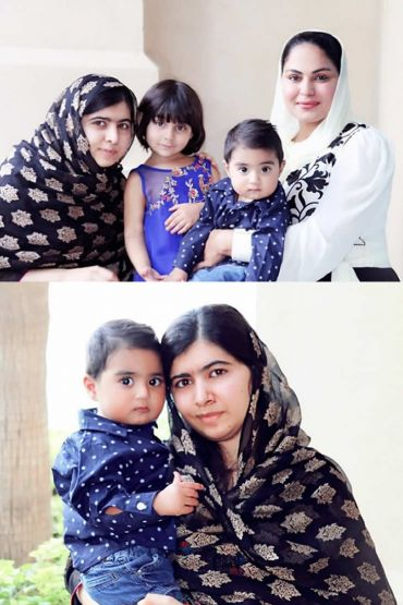 Veena Malik and Malala Yousafzai