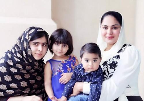 Veena Malik Meets Malala in Dubai