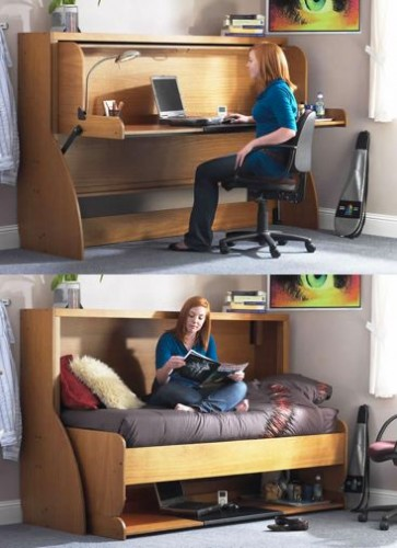Convertible furniture ideas for small space fashion 2017 - Convertible desks for small spaces ...