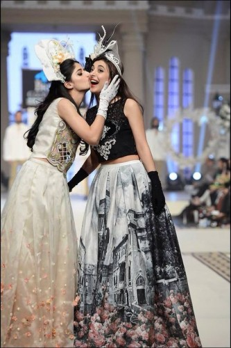 Pakistani Actresses in Cinderella Gown