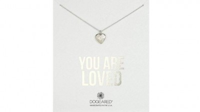 Dogeared You Are Loved Faceted Heart Sterling Silver Chain Necklace