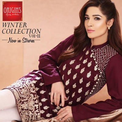 Sobia Nazir Amazing Winter Collection Designs 2016 By Origins