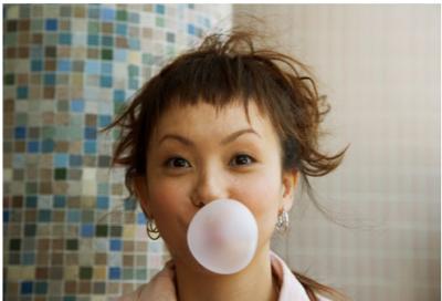 Chew sugarless gum
