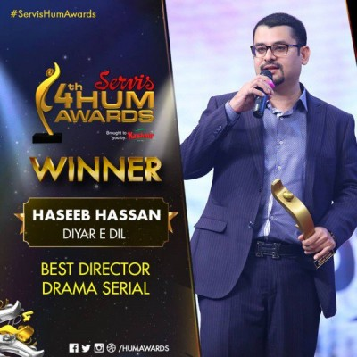 Best Director Drama Serial Award Goes To Haseeb Hasan For Diya re Dil