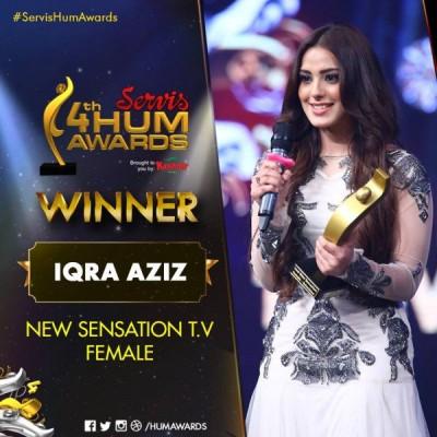 Best New Sensation Television – Female Award Goes To Iqra Aziz