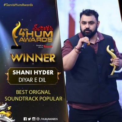 Best Original Soundtrack popular Goes to Shani Hyder For Diyar e Dil