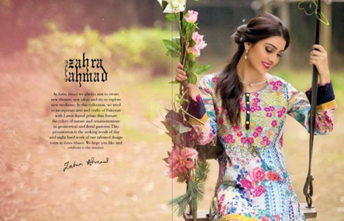 Zahra Ahmad Women Lawn Dresses 2016