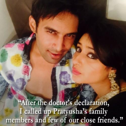 Pratyusha Banerjee and Rahul Raj Singh