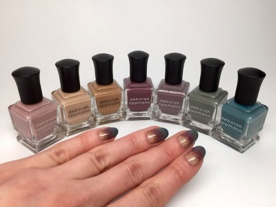 Deborah Lippmann Striped Negative Space Look