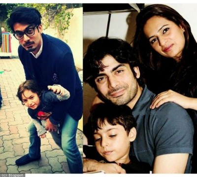 Fawad Khan with son