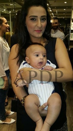 Momal Sheikh clicks with her baby boy