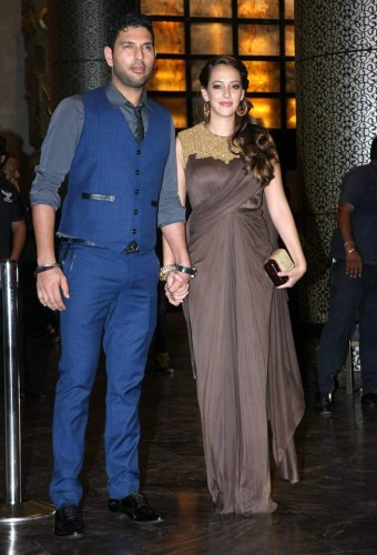 Preity Zinta and Gene Goodenough's reception Pictures