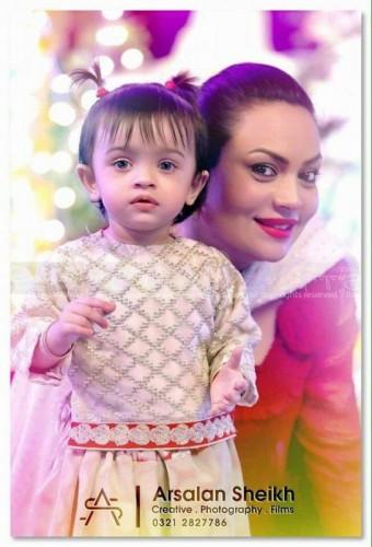Sadia Imam present with her baby girl.