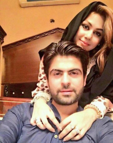 Ahmed Shahzad & his wife Pictures