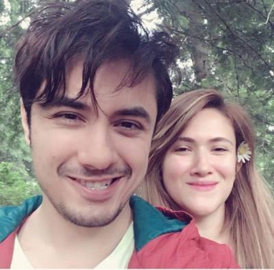 Ali Zafar with his Wife Pics